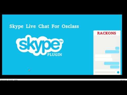 Skype Live Chat Plugin For Osclass - Rackons Market