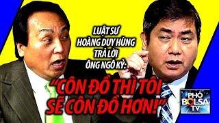 """Ls Hoàng Duy Hùng vs. ông Ngô Kỷ: """"Sử dụng từ ngữ côn đồ, tôi sẽ côn đồ hơn!"""""""