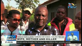 Woman kills her two children, husband before taking her own life in Thome