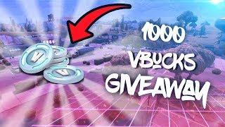 Fortnite battle Royale '1000 vBucks Giveaway'
