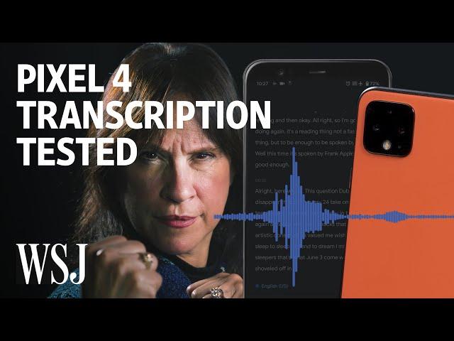 Pixel 4's Transcription App vs. World's Fastest-Talking Woman | WSJ
