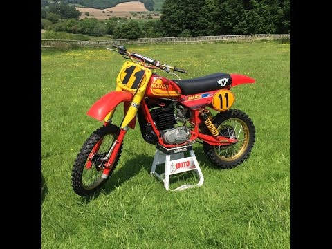 Motocross: Dave Willet rides a 1981 Maico 490 two-stroke