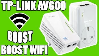tp link av600 powerline with passthrough extend wifi unboxing