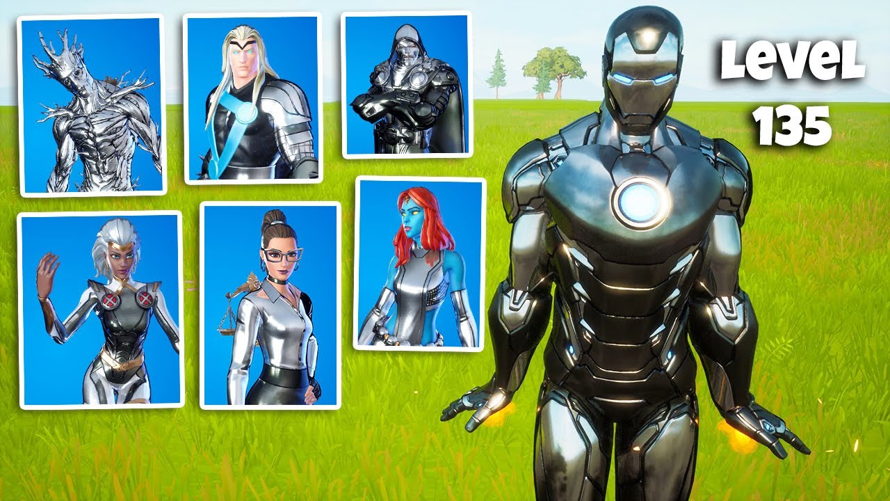 Silver Foil Styles For All Of The Season 4 Battle Pass Skins In Fortnite Youtube