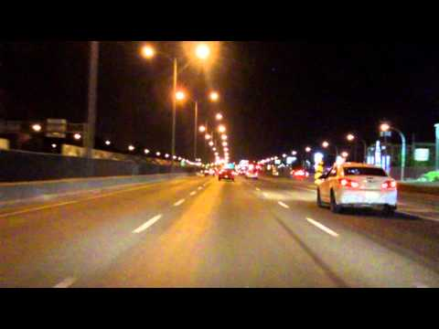 Lafontaine Expressway (Autoroute 25 Exits 10 to 4) southbound (Night)
