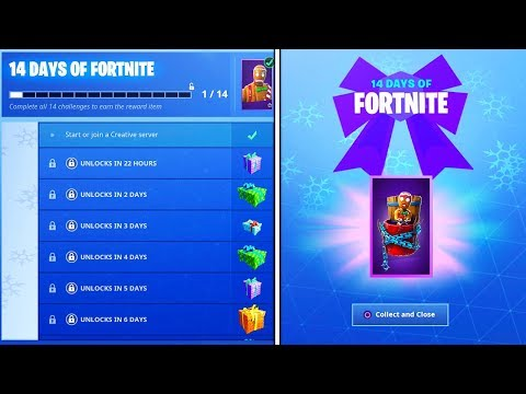 The FREE DAILY REWARDS in Fortnite! (New 14 Days Of Fortnite Challenges) thumbnail