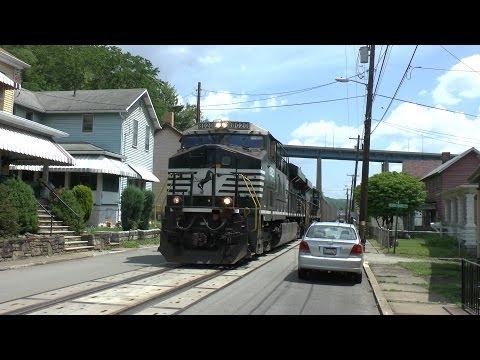 Norfolk Southern Railway Street Running, West Brownsville, Pennsylvania USA