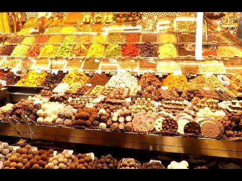 La Boqueria Market - Mercat Boqueria Barcelona, Spain | HD