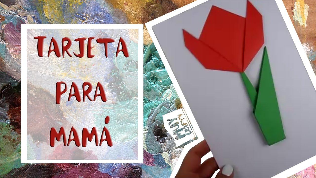 Tarjeta de Origami FÁCIL para el DÍA DE LA MADRE | DIY | #Niños ...