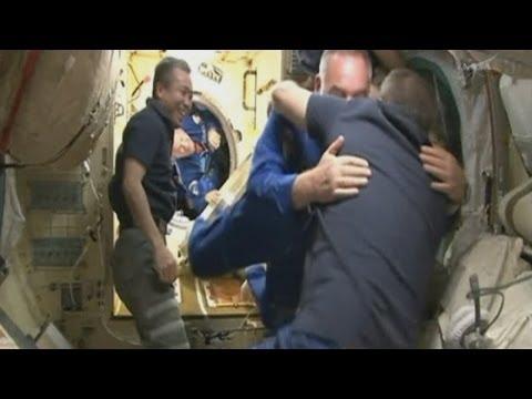 Soyuz rocket docks at International Space Station