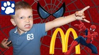 Vlog   Человек-Паук  Хеппи Мил В Макдональдс   The Amazing Spiderman Happy Meal Toy Mcdonald'S 2015