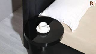 Palazzo Black Leatherette Round Platform Bed Vgkc-008-blk
