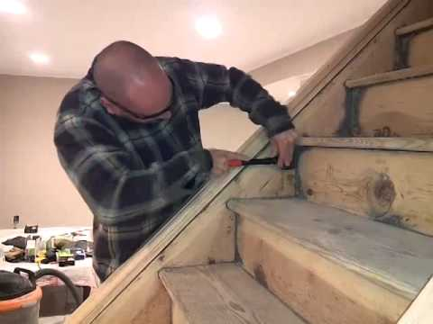 How To Sand Remove Paint Off A Staircase