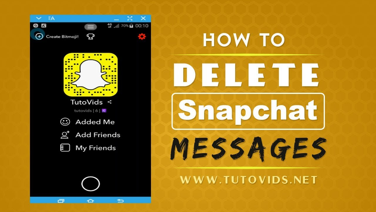 How to delete messages on snapchat youtube how to delete messages on snapchat ccuart Choice Image