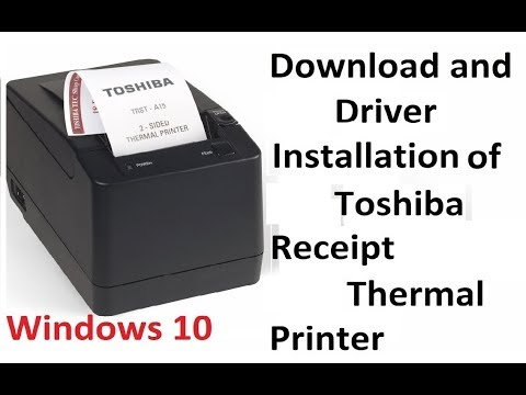 How to Install Toshiba Receipt pos Thermal Printer on windows 10
