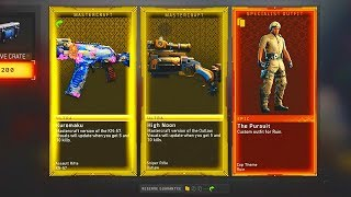 BLACK OPS 4 SUPPLY DROP OPENING! HUGE RESERVE CRATE OPENING NEW MASTERCRAFT WEAPONS and DLC ITEMS!