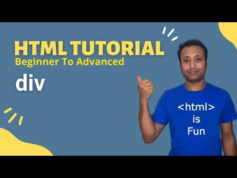HSC ICT-L4.39 div |  Bangla HTML Tutorial thumbnail