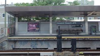 ニューヨークの地下鉄Aラインの車窓から