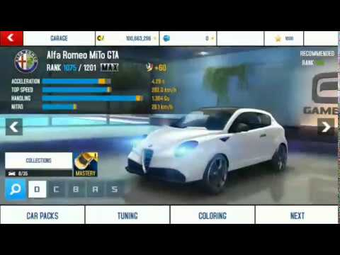 asphalt 8 Game play : Carrier NEVADA knock down In class D using Alfa Romeo Mito GTA