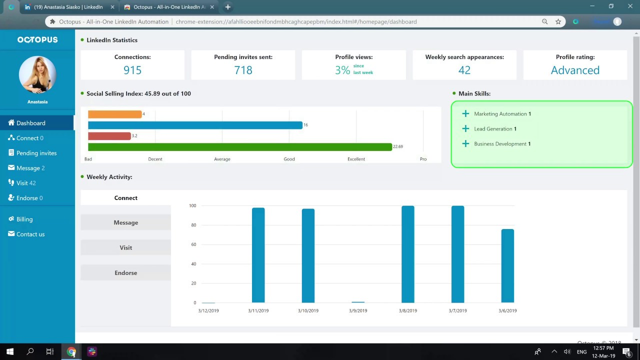 Download Octopus - All-in-One LinkedIn Automation 1 3 23 CRX File