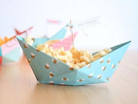 ideas para fiestas y cumples barquito de papel - Fiestas Y Cumples
