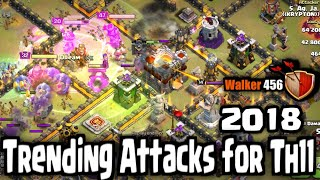 Coc | 2018 best war attacks for th11 | Walker 456 | Clash of clans
