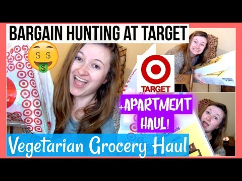 TARGET GROCERY HAUL + NEW APARTMENT STUFF! Vegetarian On a Budget