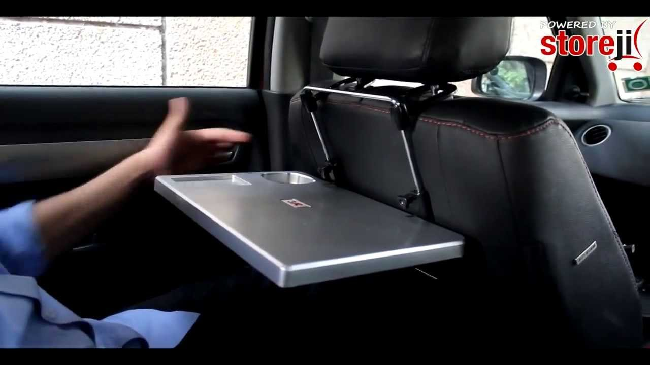Car Portable Laptop Food Tray Table with Cup Holder  YouTube