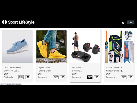 E-Commerce Website   Product Of Sport Site Using HTML & CSS