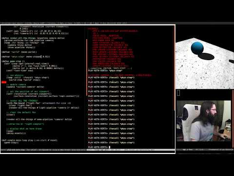 Pushing Pixels with Lisp - Episode 19 - Play around with Physics