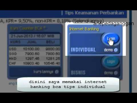 cara cek saldo melalui internet banking/klik bca - YouTube