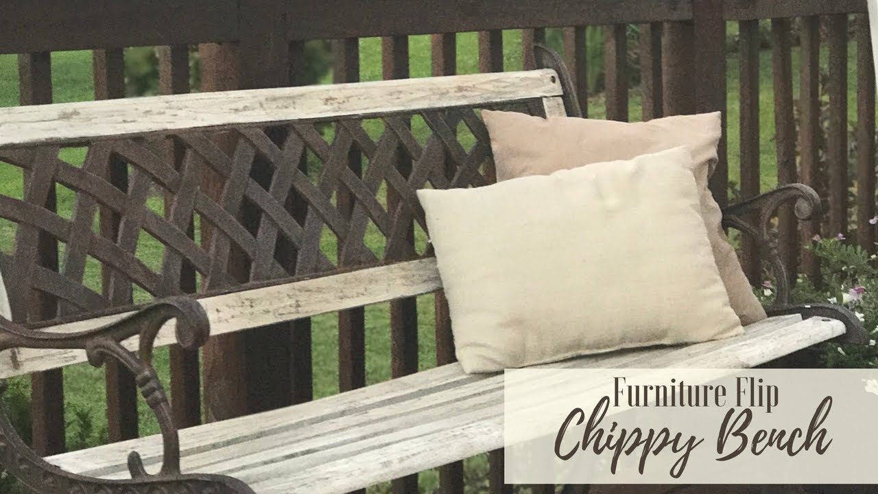 Fixer upper furniture flip chippy paint bench youtube for In fixer upper does the furniture stay