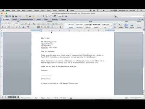 Write A Free 2 Weeks Resignation Letter   PDF   Word