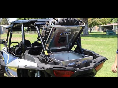 UTV Rear Storage Box With KSH All Aluminum Container