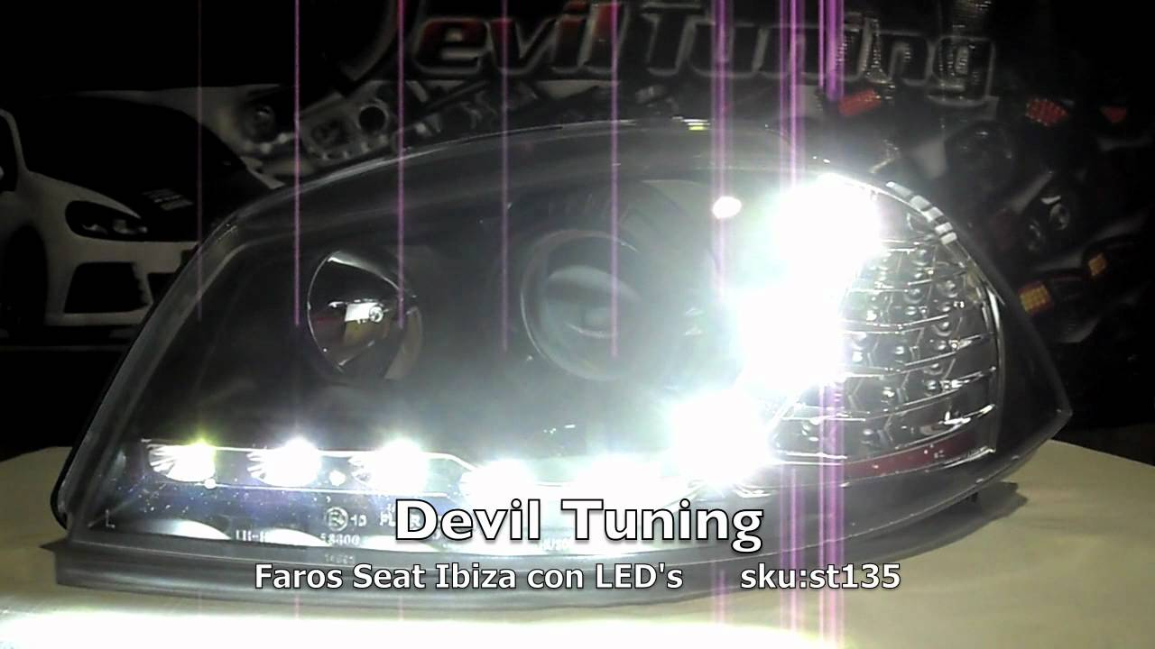 st135 faros seat ibiza cordoba 6l devil tuning youtube. Black Bedroom Furniture Sets. Home Design Ideas