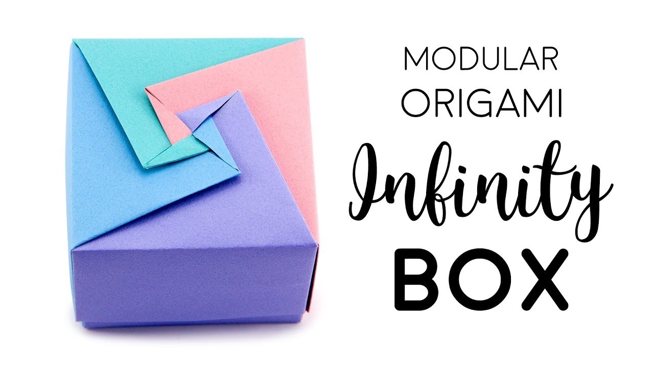 Easy Origami Masu Box & Lid Tutorial - DIY - Paper Kawaii - YouTube | 720x1280