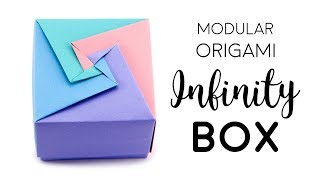 Modular Origami Box Tutorial - Infinity Lid - Paper Kawaii