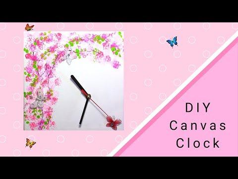 Home Decor DIY : Painted Canvas Clock (Very Easy)