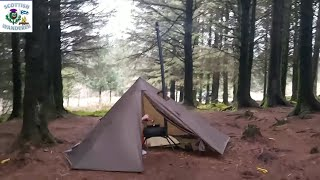 Hot Tent Camping In The Woods | Onetigris Smokey Hut Chimney Tent | Bushcraft Wild Camping