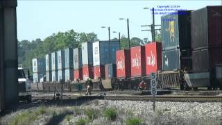 HD] CSXT Q133-10 - S,Waycross, Georgia - Thursday April 10th, 2014.wmv