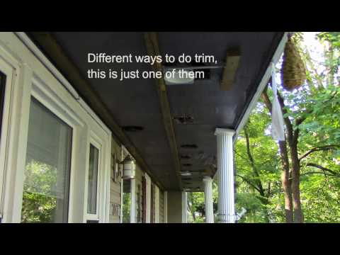 DIY How to vinyl side soffit / siding and fascia trim, using a metal brake to finish edge.