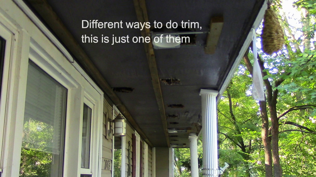 Diy How To Vinyl Side Soffit Siding And Fascia Trim