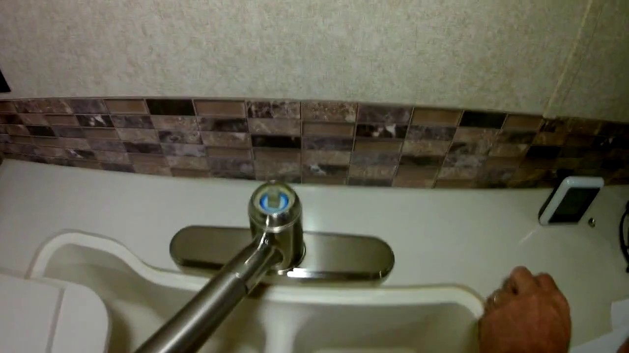 How to fix leaking water faucet in camper trailer - YouTube