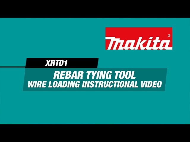 How to Load Tie Wire in the 18V LXT Rebar Tying Tool (XRT01)