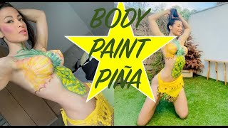 BodyPaint Pineapple / Pintura Corporal Piña. Version Completa Video www.onlyfans.com/ladyorofit