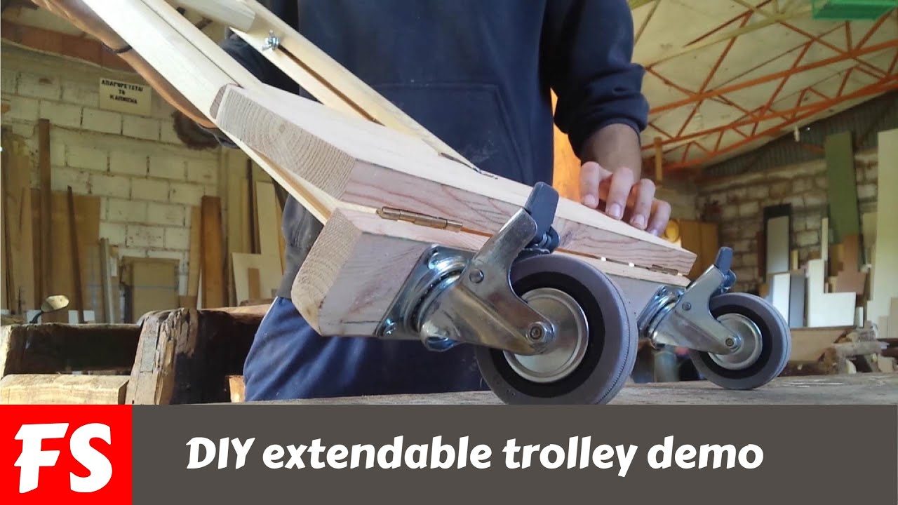 DIY extendable trolley (FS WoodWorking) - YouTube