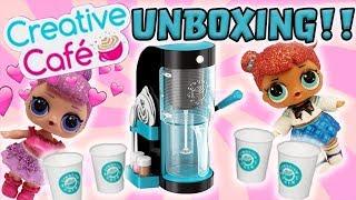 LOL Surprise Dolls Unbox Creative Cafe Barista Bar! Featuring Sugar Queen & Glitter Teacher's Pet!