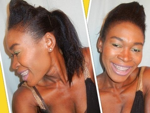 Easy Bumped Ponytail Pompadour Ponytail Hairstyle Poofy Ponytail