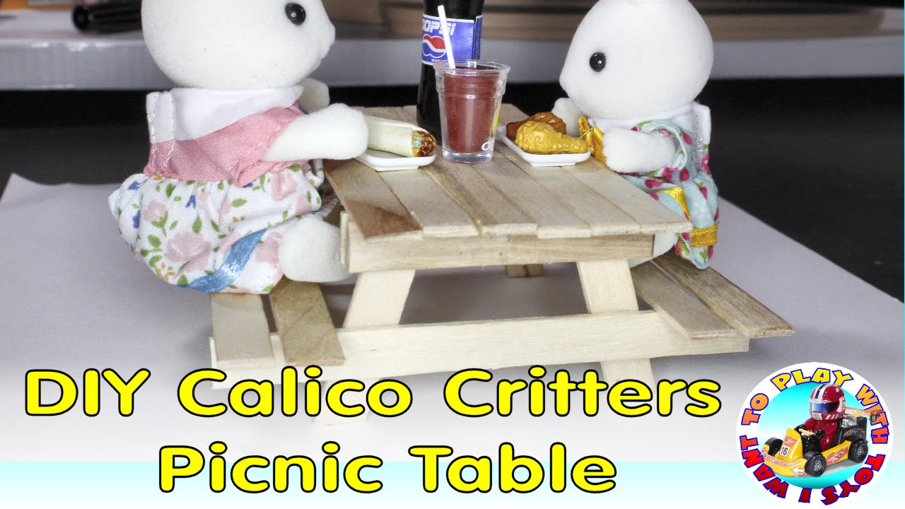 DIY Calico Critters Picnic Table   YouTube