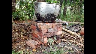 Estufa de leña eficiente, simple y rápida de ladrillos (estufa rocket)